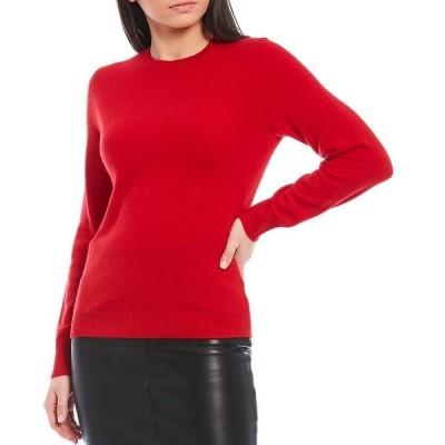 アントニオメラニー レディース ニット&セーター アウター Luxury Collection Lia Cashmere Crew Neck Long Sleeve Sweater Candy Apple