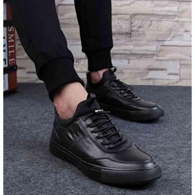 スニーカー メンズ レザー ブランド 軽量 靴 白 おしゃれ 本革 軽い 黒
