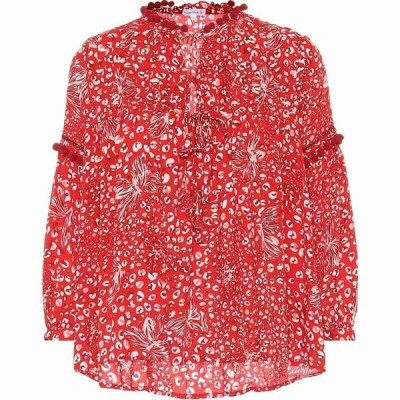 プーペット セント バース Poupette St Barth レディース ブラウス・シャツ トップス Exclusive to Mytheresa - Clara printed blouse Red Farfalla