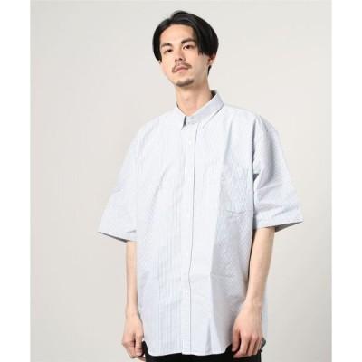 シャツ ブラウス BEAMS / 5分袖 イージー ボタンダウンシャツ