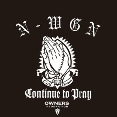 カッティングステッカー ホンダ(HONDA)N-WGN エヌワゴン prayhands 車 カー ステッカー  アクセサリー シール ガラス [◆]