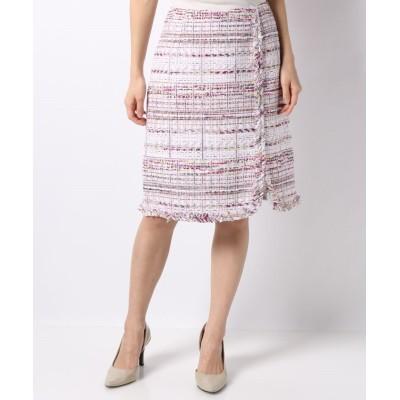 (ANAYI/アナイ)【セットアップ対応商品】ピンクMIXツイードタイトスカート/レディース ピンク