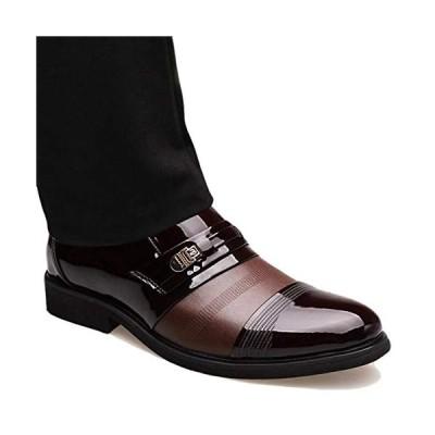 [inotenka]シークレットシューズ ビジネスシューズ メンズ 革靴 レザーシューズ 紳士靴 通勤 6cmアップ 008-960124 ブラウン