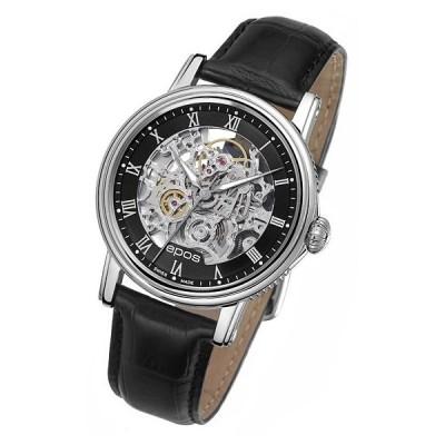 エポス メンズ 腕時計 3390SKRBK epos 自動巻き ブラック系
