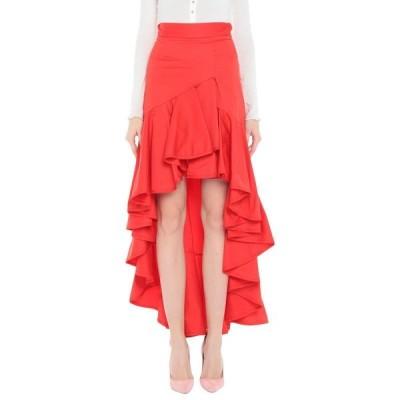 MANGANO ひざ丈スカート  レディースファッション  ボトムス  スカート  ロング、マキシ丈スカート オレンジ