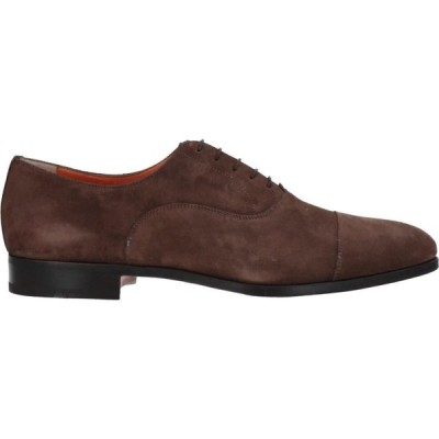 サントーニ SANTONI メンズ シューズ・靴 laced shoes Brown