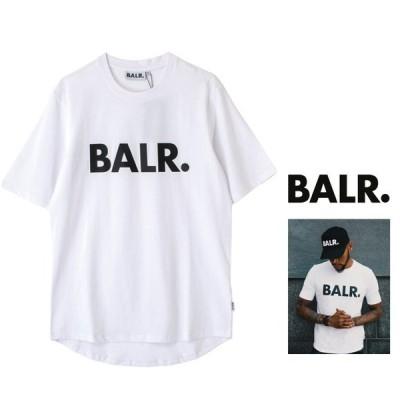 BALR(ボーラー) B10001 Brand Athletic T Shirt フロント ロゴ 半袖Tシャツ Color:WHITE(ホワイト)