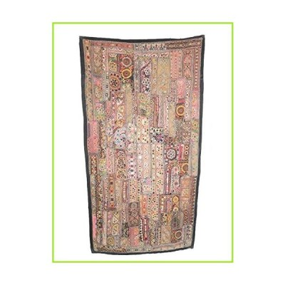 Hand Crafted Wall Decor Vintage Patchwork Tapestry Antique Embroidered Work【並行輸入品】