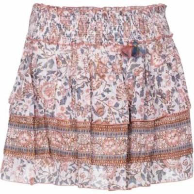 プーペット セント バース Poupette St Barth レディース ミニスカート スカート Floral cotton miniskirt White Pink Celery