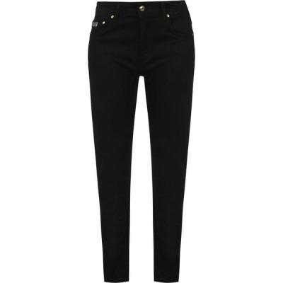 ヴェルサーチ VERSACE JEANS COUTURE レディース ジーンズ・デニム スキニー ボトムス・パンツ Skinny Logo Patch Jeans Black