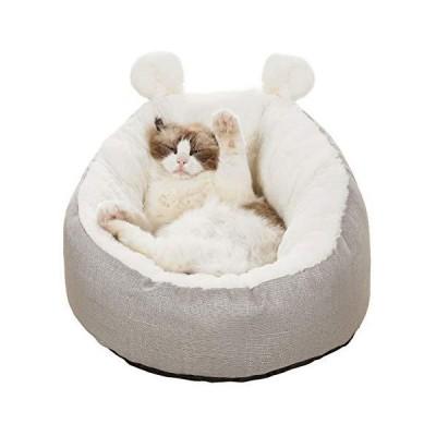 V-Dank 猫 ベッド 犬 クッション ペット ソファ ベット ふわふわ あったか 洗える ペット用マット キャット ラウ?