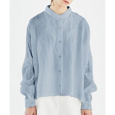 【マーコート】mizuiro ind リネンワイドシャツ