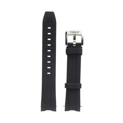 海外取寄品--Tissot ゴム製ブラック腕時計ベルト 幅19mm (モデル:T603032879)