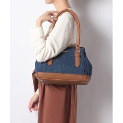 L.i / 【Via Demizon ビアデミゾン】ツヤ感のある合成皮革を使用したA5ノートサイズのがま口バッグ WOMEN バッグ > ボストンバッグ