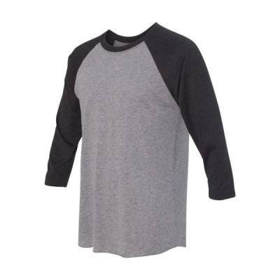 メンズ 衣類 トップス Next Level Mens Triblend Three-Quarter Sleeve Raglan T-Shirt ブラウス&シャツ