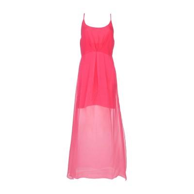 HANITA ロングワンピース&ドレス フューシャ S 100% シルク ロングワンピース&ドレス