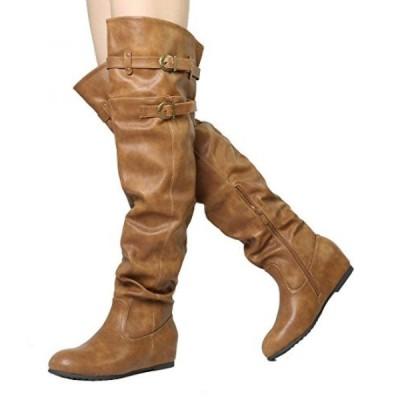ドリームペア レディース ブーツ Dream Pairs Women's Drew Hidden Wedges Heel Over The Knee Boots