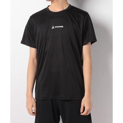 ATHFORM(アスフォーム) ワンポイントロゴ半袖Tシャツ M BLK メンズ AF-S20-010-011