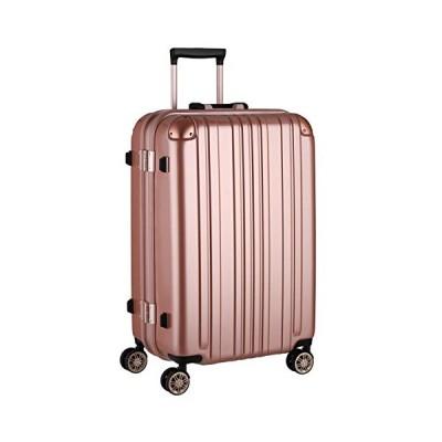 レジェンドウォーカー スーツケース ポリカーボネート 機内持込 ファスナー フレームタイプ ダブルキャスター ローズゴールド M(フレーム)