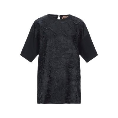 ヌメロ ヴェントゥーノ N°21 T シャツ ブラック 42 コットン 100% / レーヨン T シャツ
