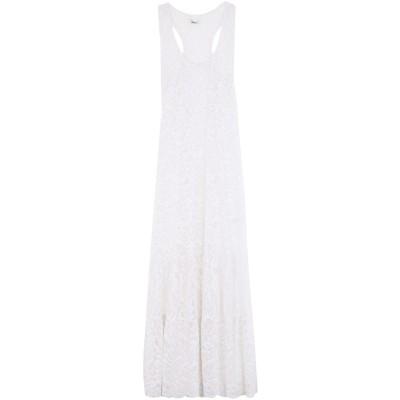 4GIVENESS ロングワンピース&ドレス ホワイト L ナイロン 90% / ポリウレタン 10% ロングワンピース&ドレス