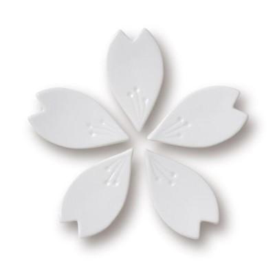 九谷焼 さくら箸置き(ホワイト5個セット)hiracle ひらくる