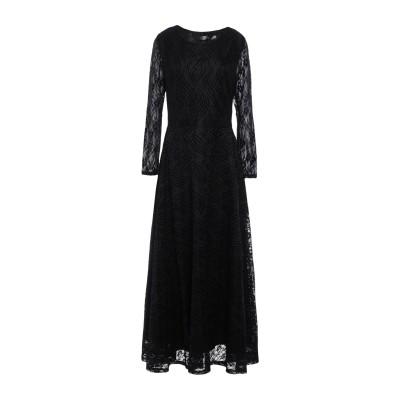 アノニム デザイナーズ ANONYME DESIGNERS ロングワンピース&ドレス ブラック XS ナイロン 90% / ポリウレタン 10% ロ