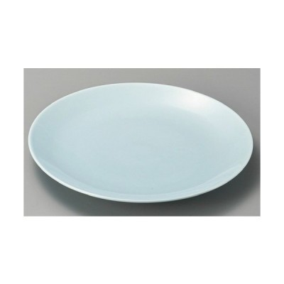 ☆ 萬古焼大皿 ☆ 青地10.0丸皿 [ 320 x 35mm ] 【料亭 旅館 和食器 飲食店 業務用 】