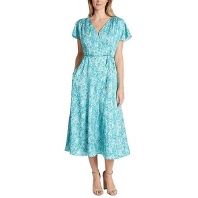 タハリ レディース ワンピース トップス Tahari ASL Plus Dress turquoise snake