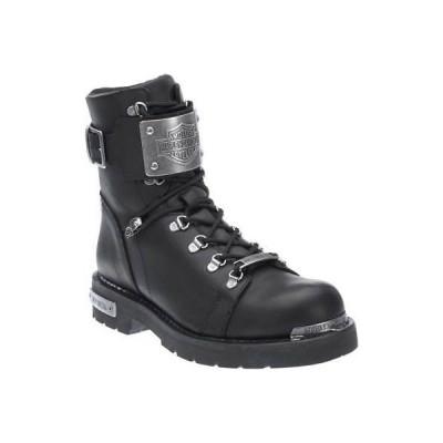 ブーツ ハーレーダビッドソン Harley-Davidson Men's Sewell Black Leather Motorcycle Boots D96125