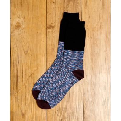 ability / MR.EVERYDAY'S ミスターエブリデイズ / ロングソックス 靴下 日本製クルーソックス (WEDNESDAY) / MR-E063-100 MEN レッグウェア > ソックス/靴下