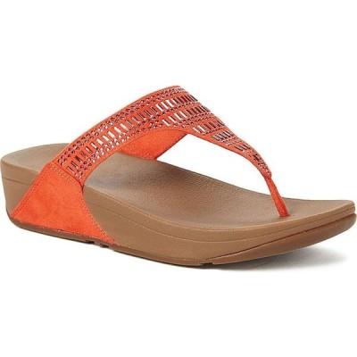 フィットフロップ FitFlop レディース サンダル・ミュール シューズ・靴 Incastone Toe-Thong Sandals Fire Red