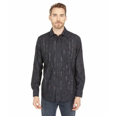 ロバートグラハム シャツ トップス メンズ Forum Long Sleeve Woven Shirt Black