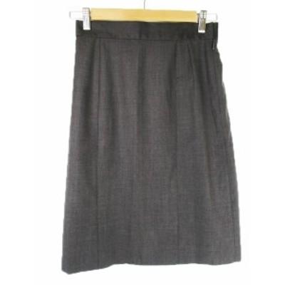 【中古】イエナ IENA une petites merveille スカート ひざ丈 タイト ウール 38 グレー /MN5 ☆ レディース