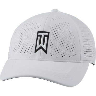 ナイキ Nike メンズ キャップ 帽子 TW Aerobill H86 Perforated Golf Cap White/Anthracite/Black/Tiger Woods
