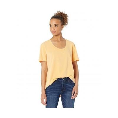 Mod-o-doc モッドオードック レディース 女性用 ファッション Tシャツ Vintage Supreme Jersey Short Sleeve U-Neck High-Low Tee - Citrus Zest