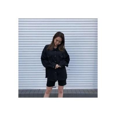 アンビー ENVYM オーバーサイズSH/JK (BLACK)