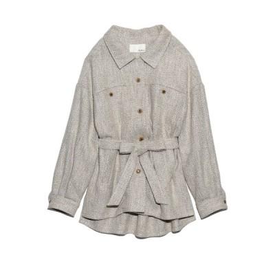 【リリーブラウン】 ビッグシルエットシャツジャケット レディース ベージュ F Lily Brown