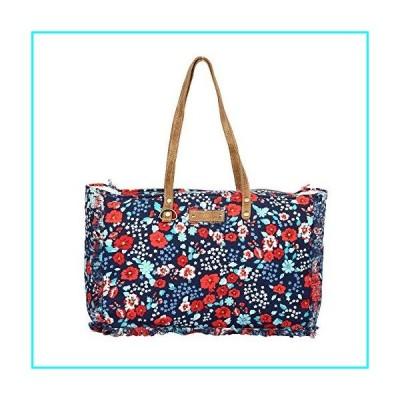 Myra Bag Flamboyant Floral Upcycled Canvas Weekender Bag S-1309