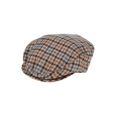 ボルサリーノ BORSALINO 帽子 キャメル 55 カシミヤ 100% 帽子