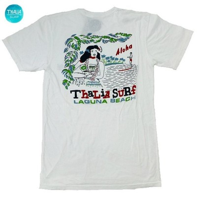 US限定 Thalia Surf Royal Thalia T-Shirt タリアサーフショップ Tシャツ 半袖 カットソー 海外限定 カリフォルニア 白【ゆうパケット対応】