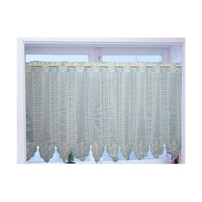 カフェカーテン【防災加工】  オリンピア  ホワイト   巾150x75cm