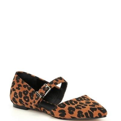 ジービー レディース サンダル シューズ Luv-2Know Side Buckle Leopard Print Pointed Toe Flats Brown