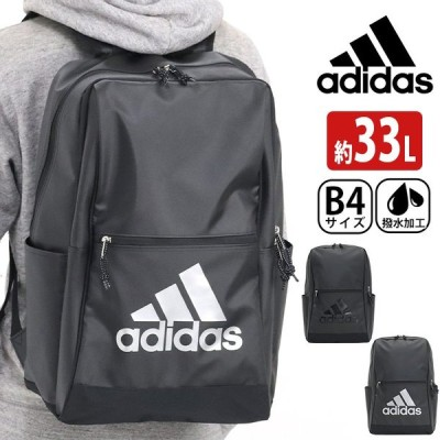 リュック adidas アディダス 大容量 リュックサック 女子 男子 33L バックパック スクエア デイパック バック ビッグロゴ ロゴ メンズ ブランド 撥水 A4 B4 通学