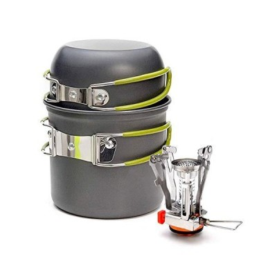 ELK Camping Cookware Stove Set for Outdoor Camping, Hiking, Backpacking and