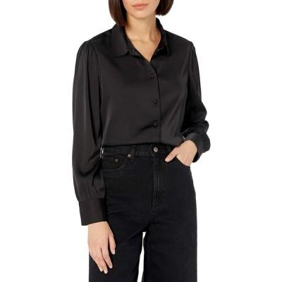 The Drop レディース @lucyswhims シルバークラウド 長袖 ボタンダウンシャツ、ブラック、XS (US) S (JP)