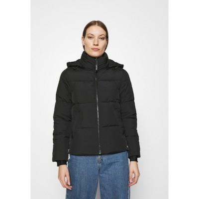 カルバンクライン ジャケット&ブルゾン レディース アウター ELASTIC LOGO SORONA SHORT JACKET - Winter jacket - black