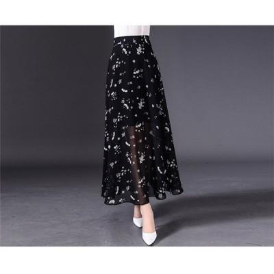 レディース ファッション ひざ丈 スカート ドレス 大きいサイズ カジュアル シンプル