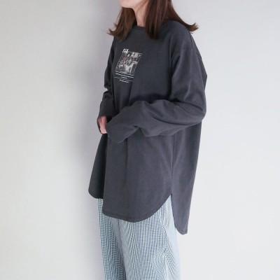179ダブルジー 179/WG チュニックロングスリーブTシャツ (39チャコールグレー)