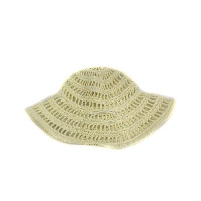 【中古】La Maison de Lyllis ラメゾンドリリス 帽子 ハット メッシュ リボン アイボリー /SR レディース 【ベクトル 古着】